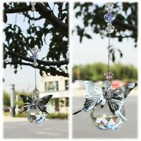 30mm Handmade Butterfly Suncatcher Crystal Ball Prisms Window Hanging Ornament