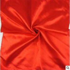 """Women's Candy Colors Solid Silk-Satin Kerchief Small Square Neck Scarves 23""""*23"""""""