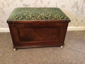 Vintage Wooden Storage Box Trunk