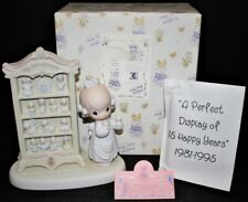 "Precious Moments 1995 ""Perfect Display of 15 Happy Years"" Figurine in Box 127817"