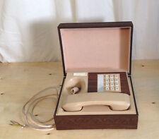 Vintage 1970s Deco Tel Executive Wood Ornate Box Personal Push Button Telephone