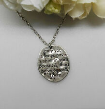 May you a lways have a shell in your pocket & sand between your toes necklace