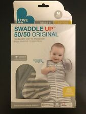Love To Dream Swaddle UP 1.0 Transition Bag, Gray, Medium, 13-18.5 lbs