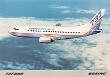 Boeing 737-500 SEATS 108 Carries 1.8 million people  Airplane Postcard
