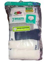 Fruit Of The Loom Boy's Briefs 7-Pair Underwear Multi  Moisture Wick L 14-16