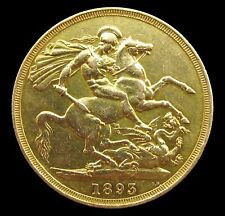 More details for victoria 1893 double sovereign / two pounds - vf