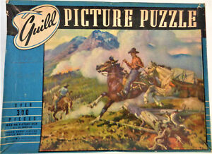 "Vintage Guild Series ""T"" Picture Puzzle: Forest Rangers in Action"