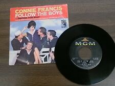 """CONNIE FRANCIS 45 RPM """"Follow the Boys"""" """"Waiting for Billy"""" w/ orig pic sl VG-"""