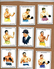 Set of BOXING GREATS First Series of 25 card / IDEAL ALBUMS LTD made in England