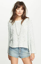 NWT Free People Everlasting Pullover Textured Sweater Sz Small Mint Oversized