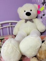 78in. Giant Huge Big White Teddy Bear Stuffed Animals Plush Soft  Toys Doll Gift
