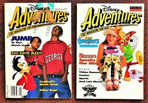 """2 - """"Disney Adventures, The Magazine For Kids"""" - January 1993 & Bonkers Issues"""