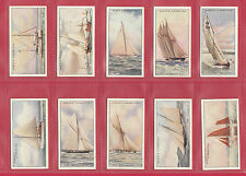 OGDENS  LTD. -  BEAUTIFUL & RARE SET OF 50 YACHTS & MOTOR BOATS CARDS  -  1930