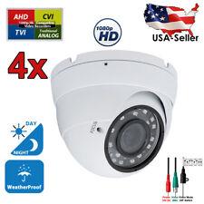 4 Pcs CCTV Security Camera HD 1080p AHD TVI CVI Night Vision Outdoor Indoor