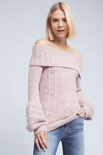 Anthropologie Women's Neves Off-The-Shoulder Pullover Sweater Size S
