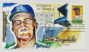 Don Drysdale A Tribute 1936-93 Wild Horse Cachets FDC 8/2/82 #12/90