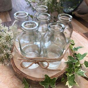 BULK BUY Mini School Milk Glass Bottle Tea Party Wedding Baby Shower Bud Vase