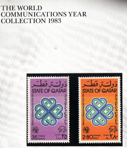 Qatar 1983 Communication set of 2 stamps. SG 753-754. MUH. Going cheap