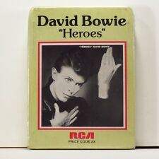 DAVID BOWIE Heroes 1st UK RCA 8-Track tape SEALED MINT in art sleeve > Fripp Eno