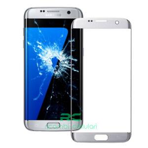 vetro vetrino per Samsung Galaxy S7 EDGE G935 G935F SILVER GRIGIO touch screen