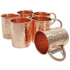 Zap Impex Hammered Copper Moscow Mule lungo misura Tazza Set di 6 Tazze