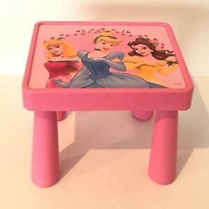 Disney Princess Table Child Size Pink Cinderella Aurora Belle Removable Legs
