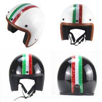Vintage Motorcycle Helmet Open Face Half 3/4 Helmet Cruiser Scooter S/M/L/XL/XXL