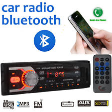 1 DIN Car Radio Audio Bluetooth SD 12V Stereo Head Unit FM In-Dash  MP3 Player