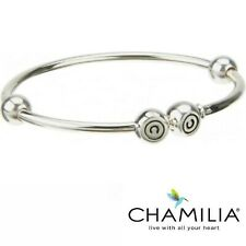 Genuine Chamilia silver 925 flexi bangle charm bracelet 18cm in box