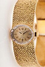Vintage 1960s $10,000 ROLEX Ladies 18k Yellow Gold Dress Watch & BOX & WRNTY 55g
