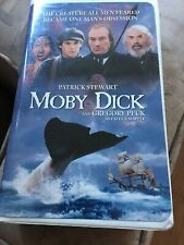Moby Dick starring Gregory Peck Patrick Stewart  (VHS, 1998, Clamshell)