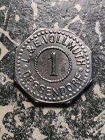 U/D Deggendorf Germany L & E Vollmuth 1 Pf. Private Notgeld Token (1 Coin Only)