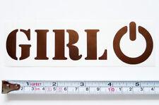 New listing New Girl Power Symbol Metallic Bronze/Brown Die Cut Vinyl Sticker/Decal 1.6 x5.6