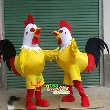 Halloween Chicken Cock Mascot Costume Adult Cosplay Suits Party Game Outfits US