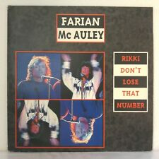 "Farian / Mc Auley ‎– Rikki Don't Lose That Number (Vinyl, 12"", Maxi 33 Tours)"
