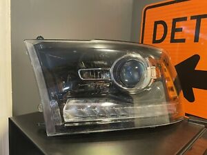 2013-2018 Dodge Ram 2500 Halogen Projector LED DRL Left OEM Headlight
