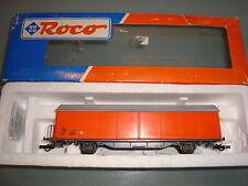Roco 46400 SBB/CFF Schiebewandwagen/sliding wall van orange VGC boxed