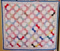 ONE OF A KIND ANTIQUE BOW TIE QUILT GRAPHIC CLEAN BRIGHT ART DECO