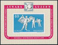 SCHWEIZ 1951, Block 14, tadellos postfrisch, Attest Liniger, Mi. 260,-
