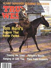 True West April 1993 Texas Alamo Survivor Tom Horn Chinese Hanging Pack Train