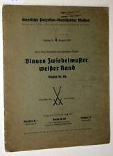 Staatliche Porzellan-Manufaktur Meißen: Katalog Nr. 4 Ausgabe 1937. Form: Neuer