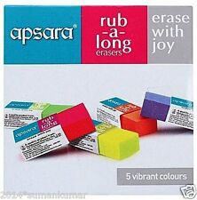 Apsara Rub A Long Erasers Pack Of 20 multi color school home office student use