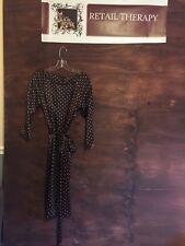Beautiful Silk Dress By Min.imal Brown And Cream Polka Dot 8