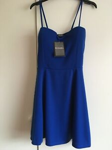 Be Jealous Dress Mini Padded Bust Blue Size M-L (UK 10 - 12) New with Tags