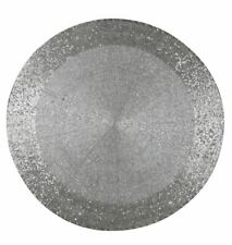 Stylish Silver Beaded Round Placemat Dining Table Decor