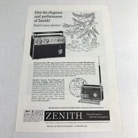1960 Vintage Print Ad Zenith Transistor Radio Advertising Art