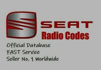 SEAT RADIO CODE UNLOCK CODE ALL MODELS - FAST SERVICE