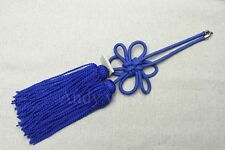 1Pcs Chinese Blue Propitious Kiku Knot For Car Rearview Mirror Vip Charms