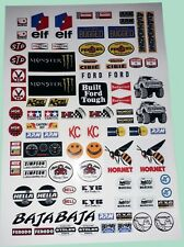 RC MIXED LOGOS TO FIT MUST 1/10/12th STICKERS DECALS CARS TAMIYA HPI LOSI