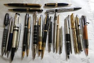 COLLECTION JOB LOT FOUNTAIN BALLPOINT PENS PENCILS LARGE MODERN GROUP